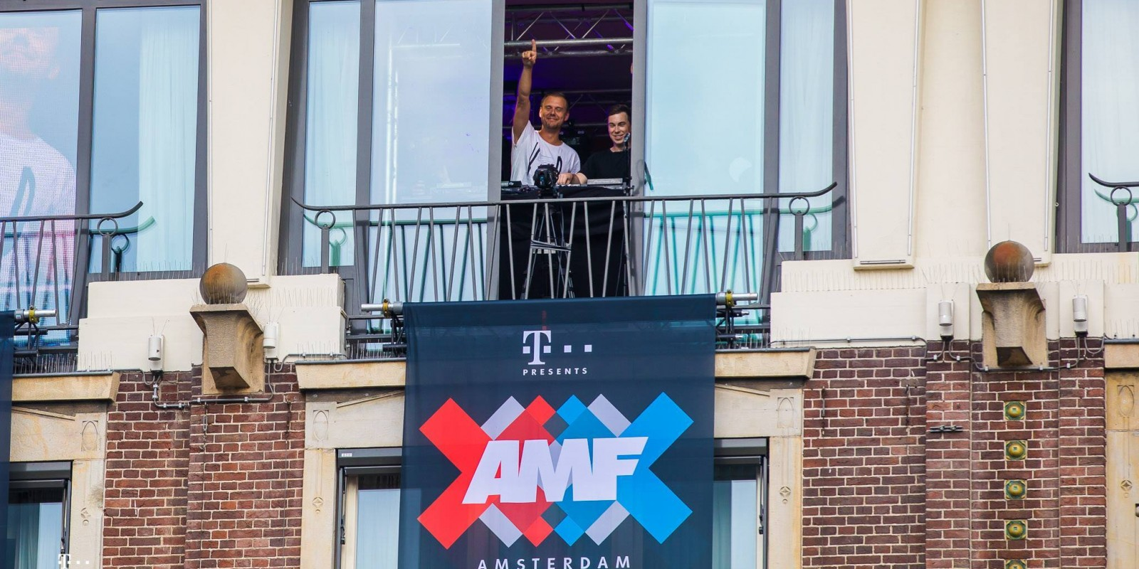 Armin van Buuren and Hardwell II=I Two Is One announcement on Dam Square Amsterdam de Dam