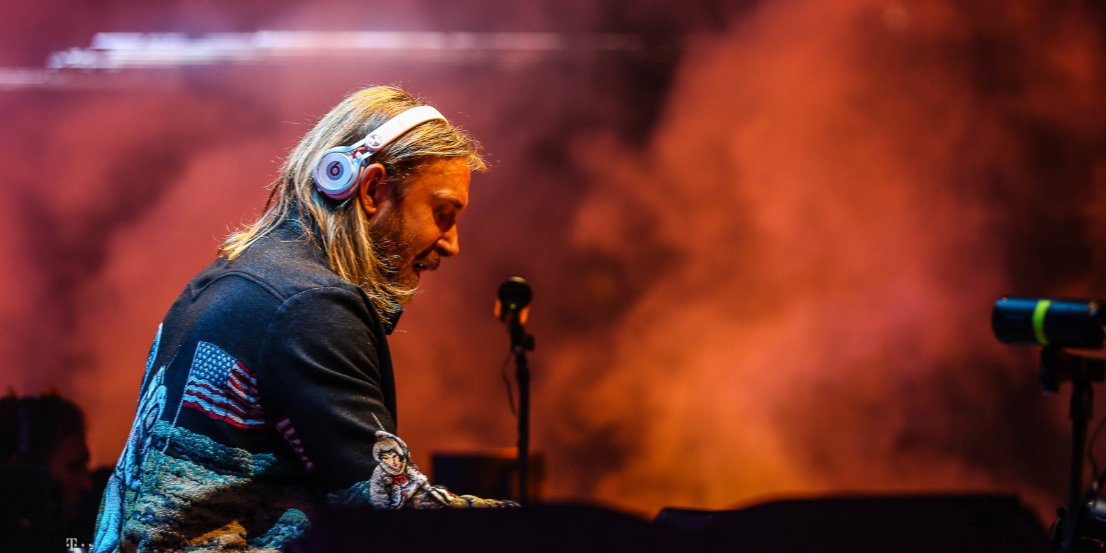 David Guetta performing at AMF